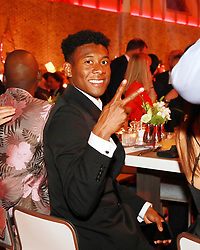 18.05.2019, Muenchen, GER, 1. FBL, FC Bayern Muenchen, Meisterfeier, Nockherberg, m Paulaner am Nockherberg, im Bild David Alaba im Anzug bei der Bayern // during the celebration after winning the championship of German Bundesliga season 2018/2019 at the Paulaner am Nockherberg. Munich, Germany on 2019/05/18. EXPA Pictures © 2019, PhotoCredit: EXPA/ SM<br /> <br /> *****ATTENTION - OUT of GER*****