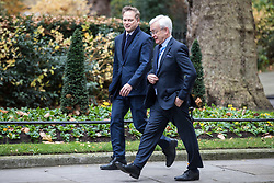 © Licensed to London News Pictures. 29/11/2017. London, UK. Grant Shapps MP (L) on Downing Street for an undisclosed meeting said to be about 'ideas and strategy'. Photo credit: Rob Pinney/LNP