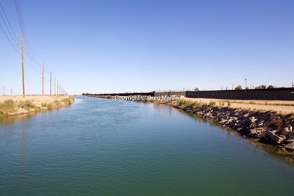 """Called """"The most dangerous body of water in the US"""" the All-American Canal runs parrell the US-Mexican Border."""