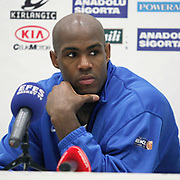 Efes Pilsen's Erwin DUDLEY during their Turkish Basketball league match Efes Pilsen between Banvit at the Sinan Erdem Arena in Istanbul Turkey on Saturday 02 April 2011. Photo by TURKPIX