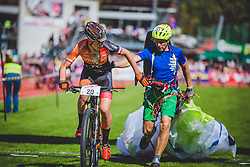 08.09.2018, Lienz, AUT, 31. Red Bull Dolomitenmann 2018, im Bild Martin Gasser (ITA, Estrich Gietl / Würth Hochenburger), Michael Wohlgemuth (ITA, Estrich Gietl / Würth Hochenburger) // Martin Gasser (ITA, Estrich Gietl / Würth Hochenburger), Michael Wohlgemuth (ITA, Estrich Gietl / Würth Hochenburger) during the 31th Red Bull Dolomitenmann. Lienz, Austria on 2018/09/08, EXPA Pictures © 2018, PhotoCredit: EXPA/ Stefanie Oberhauser