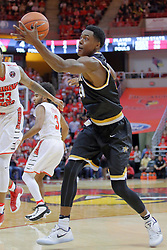 14 January 2017:  Darral Willis Jr. during an NCAA  MVC (Missouri Valley conference) mens basketball game between the Wichita State Shockers the Illinois State Redbirds in  Redbird Arena, Normal IL