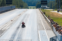 Drag racing Saturday afternoon at the Smokeout. Rockingham, NC. USA. June 20, 2015.  Photography ©2015 Michael Lichter.