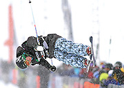 SHOT 12/18/10 11:41:22 AM - Duncan Adams of Breckenridge, Co. competes in the Ski Superpipe Finals during the Nike 6.0 Open stop of the Winter Dew Tour at Breckenridge Ski Resort in Breckenridge, Co. The event features ski and snowboard slopestyle and superpipe. (Photo by Marc Piscotty / © 2010)