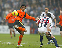 Sportsbeat Images<br />West Bromwich Albion v Cardiff<br />Saturday 14th February 2004<br />WBA V CARDIFF CITY<br />CARDIFF'S RICHARD LANGLEY AND PAUL ROBINSON