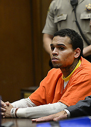 Jan. 1, 2000 - Los Angeles, California, U.S - R&B singer Chris Brown appears in court on Thursday, May 1, 2014, in Los Angeles California. (Credit Image: © Prensa Internacional/ZUMAPRESS.com)