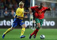 Fotball<br /> Treningskamp<br /> Portugal v Sverige<br /> 28. april 2004<br /> Foto: Digitalsport<br /> NORWAY ONLY<br /> <br />  JORGE ANDRADE (POR) / MARCUS ALLBACK (SWE)