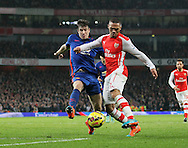 Arsenal's Kieran Gibbs tussles with Manchester United's Paddy McNair<br /> <br /> Barclays Premier League- Arsenal vs Manchester United - Emirates Stadium - England - 22nd November 2014 - Picture David Klein/Sportimage