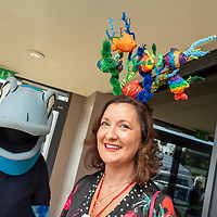 REPRO FREE<br /> Noirin O'Gorman from Cahir with Charlie Chowder pictured at the 43nd Kinsale Gourmet Festival Mad Hatters Taste of Kinsale.<br /> Picture. John Allen