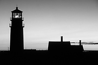 Sunset at Highland Lighthouse in Truro, MA, on Cape Cod. 10/24/99