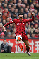 Football - 2019 / 2020 Premier League - Liverpool vs. AFC Bournemouth<br /> <br /> Liverpool's Trent Alexander-Arnold in action during todays match  , at Anfield.<br /> <br /> <br /> COLORSPORT/TERRY DONNELLY