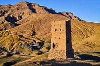 Maroc, Haut-Atlas, vallée du Draa, ancienne tour de guet // Morocco, High Atlas, Draa valley, old watchtower