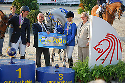 Melchior Judy Ann (BEL) - As Cold As Ice Z<br /> and father Leon<br /> Final 7 years old horses<br /> World Championship Young Horses Lanaken 2009<br /> © Hippo Foto - Dirk Caremans