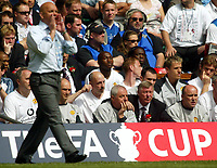 Photo: SBI/Digitalsport<br /> NORWAY ONLY<br /> <br /> Manchester United v Millwall. FA Cup Final. 22/05/2004.<br /> Walter Smith and Sir Alex Ferguson look on as Ray Wilkinson barks orders