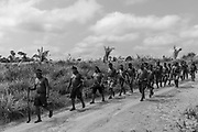 Xikrin warriors arrive at Rapko village after jungle expedition to remove invaders from the Trincheira Bacajá Indigenous Land, in Pará state, which had part of their area invaded and deforestated by land grabbers. Abandoned by the government agencies, indigenous people organized themselves to defend their territory and fight against deforestation. Last year, Trincheira Bacajá lost 3,969 hectares of forest, the highest rate of deforestation since homologation, according to Sirad X monitoring.