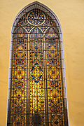 A stained glass window in the Xalapa Cathedra at the historic center of Xalapa, Veracruz, Mexico.