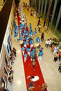 Belo Horizonte_MG, Brasil...Decima setima feira nacional de artesanato, na centro de convencoes Expominas em Belo Horizonte, Minas Gerais. Na foto uma escola de samba...17th National Craft trade fair in Expominas, Belo Horizonte, Minas Gerais. In this photo a samba school...Foto: MARCUS DESIMONI / NITRO...FOTO: Marcus Desimoni / Agencia Nitro