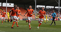 Blackpool's Jay Spearing celebrates scoring the opening goal <br /> <br /> Photographer Stephen White/CameraSport<br /> <br /> The EFL Sky Bet League One - Blackpool v Fleetwood Town - Monday 22nd April 2019 - Bloomfield Road - Blackpool<br /> <br /> World Copyright © 2019 CameraSport. All rights reserved. 43 Linden Ave. Countesthorpe. Leicester. England. LE8 5PG - Tel: +44 (0) 116 277 4147 - admin@camerasport.com - www.camerasport.com<br /> <br /> Photographer Stephen White/CameraSport<br /> <br /> The EFL Sky Bet Championship - Preston North End v Ipswich Town - Friday 19th April 2019 - Deepdale Stadium - Preston<br /> <br /> World Copyright © 2019 CameraSport. All rights reserved. 43 Linden Ave. Countesthorpe. Leicester. England. LE8 5PG - Tel: +44 (0) 116 277 4147 - admin@camerasport.com - www.camerasport.com