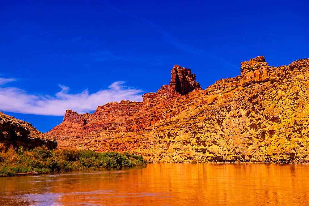 Anasazi Bottom section of Meander Canyon, Colorado River, Canyonlands National Park, Utah, USA