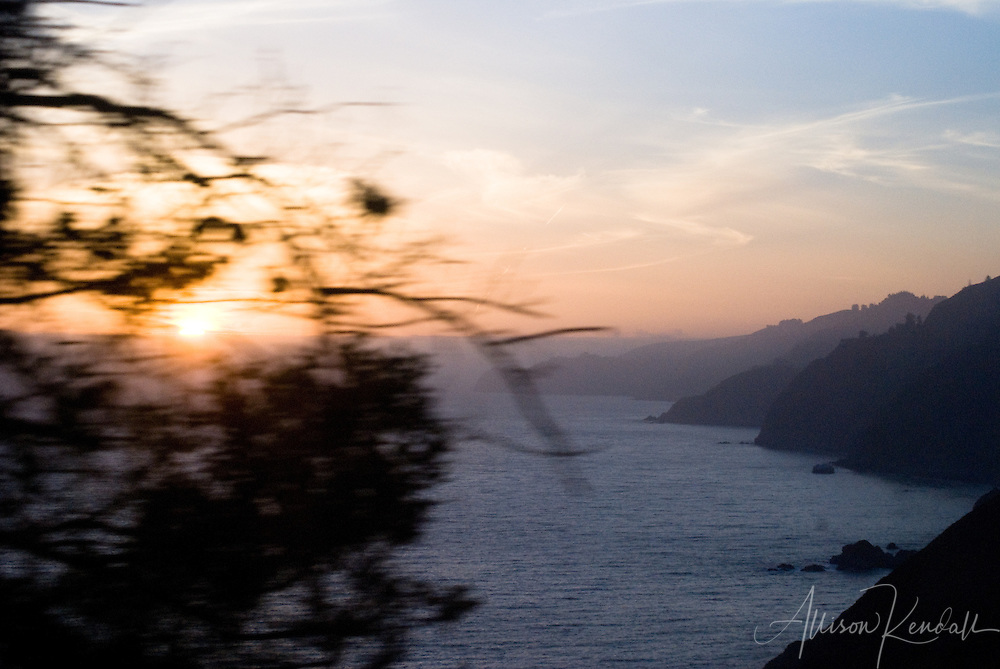 Racing the sunset to my  campsite deep in the heart of Big Sur, California