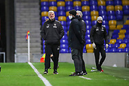 AFC Wimbledon manager Glyn Hodges walking along touch line during the EFL Sky Bet League 1 match between AFC Wimbledon and Bristol Rovers at Plough Lane, London, United Kingdom on 5 December 2020.