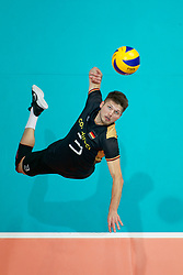 23-09-2019 NED: EC Volleyball 2019 Poland - Germany, Apeldoorn<br /> 1/4 final EC Volleyball Poland win 3-0 / Ruben Schott #3 of Germany