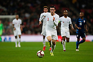 Ben Chilwell of England runs back to defend the ball during the International Friendly match between England and USA at Wembley Stadium, London, England on 15 November 2018.