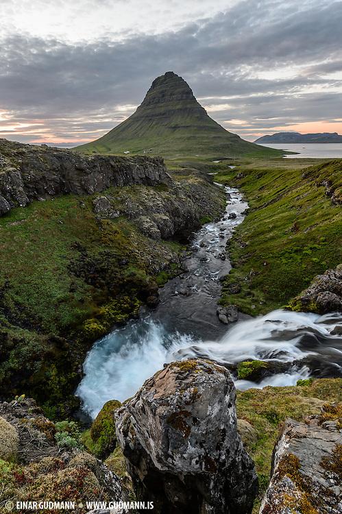 Kirkjufell is in the Snæfellsnes peninsula.