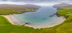 View of beach at Burrafirth on the Burra Firth on island of Unst,   Shetland, Scotland, UK