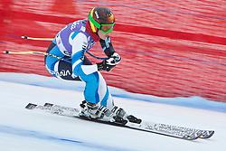 19.01.2011, Tofana, Cortina d Ampezzo, ITA, FIS World Cup Ski Alpin, Lady, Cortina, Abfahrt 1. Training, im Bild Blick von den Tribühnen im Bild Carolina Ruiz Castillo (SPA, #51) // Carolina Ruiz Castillo (SPA) during FIS Ski Worldcup ladies downhill first training at pista Tofana in Cortina d Ampezzo, Italy on 19/1/2011. EXPA Pictures © 2011, PhotoCredit: EXPA/ J. Groder