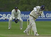 Shenley Middlesex Sri Lanka Tour Match<br /> Middlesex vs Sri Lanka <br /> Photo Peter Spurrier<br /> 11/05/2002<br /> Sport - Cricket - Middlesex vs Sri Lanka -Shenley:<br /> Jayasuriya striking a boundary. [Mandatory Credit:Peter SPURRIER;Intersport Images]