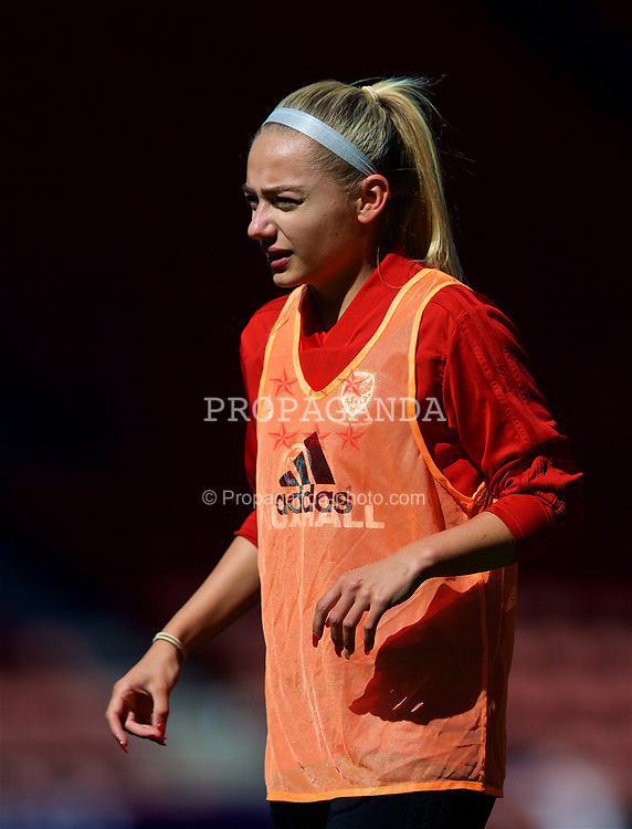 SOUTHAMPTON, ENGLAND - Thursday, April 5, 2018: Wales' Charlie Estcourt during a training session at St. Mary's Stadium ahead of the FIFA Women's World Cup 2019 Qualifying Round Group 1 match against England. (Pic by David Rawcliffe/Propaganda)