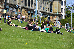 © Licensed to London News Pictures. 08/05/2020. London, UK. Members of the public in Alexandra Palace in North London enjoy the warm and sunny bank holiday weather. Prime Minister Boris Johnson is set to announce on Sunday, 10 May, measures to easy coronavirus lockdown, which was introduced on 23 March to slow the spread of the COVID-19. Photo credit: Dinendra Haria/LNP