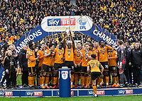 Football - 2017 / 2018 Sky Bet Championship - Wolverhampton Wanderers vs. Sheffield Wednesday<br /> <br /> Wolverhampton Wanderers celebrate with the Championship Trophy at Molineux.<br /> <br /> COLORSPORT