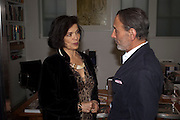 DAVID SALLE; BIANCA JAGGER, David Salle private view at the Maureen Paley Gallery. 21 Herlad St. London. E2. <br /> <br />  , -DO NOT ARCHIVE-© Copyright Photograph by Dafydd Jones. 248 Clapham Rd. London SW9 0PZ. Tel 0207 820 0771. www.dafjones.com.