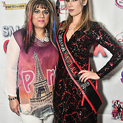 Samina Mughal and Tiana Sidor backstage at SMGlobal Catwalk - London Fashion Week F/W19 at Clayton Crown Hotel,  Cricklewood Broadway, on 1st March 2019, London, UK.