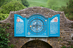 The Nychthemeron Clock on the wall at Snowshill Manor