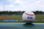 02 June 2016: Official NCAA baseball. The Nova Southeastern University Sharks played the Cal Poly Pomona Broncos in Game 11 of the 2016 NCAA Division II College World Series  at Coleman Field at the USA Baseball National Training Complex in Cary, North Carolina. Nova Southeastern won the semifinal game 4-1 and advanced to the championship series.