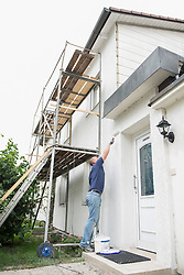 DIY man wall house home painting white
