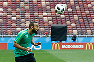 Mohammad al-Sahlawi of Saudi Arabia during the Saudi Arabia training session on June 13, 2018 the day before the opening match of the 2018 FIFA World Cup Russia, Group A football match between Russia and Saudi Arabia at Luzhniki Stadium in Moscow, Russia - Photo Thiago Bernardes / FramePhoto / ProSportsImages / DPPI
