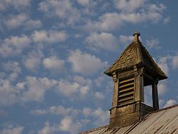 United States, Washington, Sedro-Wooley, abandoned dairy barn at Northern Hospital