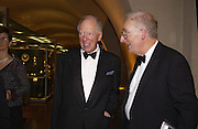 Timothy Stevens and Lord Jacob Rothschild, Opening of Hungary's Heritage-Princely Treasures from the Esterhaxy Collection. The Gilbert collection. Somerset House. 25 October 2004. ONE TIME USE ONLY - DO NOT ARCHIVE  © Copyright Photograph by Dafydd Jones 66 Stockwell Park Rd. London SW9 0DA Tel 020 7733 0108 www.dafjones.com
