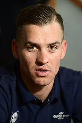 January 9, 2018 - Calpe, Espagne - CALPE, SPAIN - JANUARY 9 : STYBAR Zdenek (CZE) Rider of Quick-Step Floors Cycling team talking to the press during a press conference part of the official team presentation of the Quick-Step Floors Pro cycling team 2018 at the Hotel Suitopia on January 09, 2018 in Calpe, Spain, 9/01/2018 (Credit Image: © Panoramic via ZUMA Press)