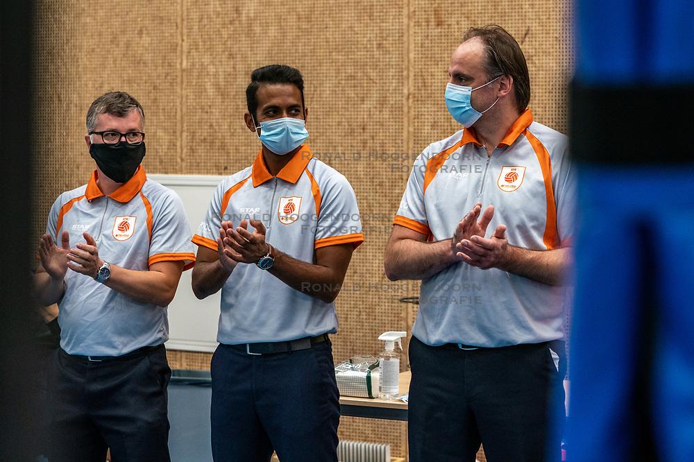 Lines men after the supercup final between Amysoft Lycurgus - Active Living Orion on October 04, 2020 in Van der Knaaphal, Ede