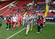 Sheffield United Ladies Rosa Neary (left) leads the side out onto the pitch during the FA Women's Cup First Round match at Bramall Lane Stadium, Sheffield. Picture date: December 4th, 2016. Pic Clint Hughes/Sportimage