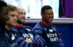 Bristol Sport and Bristol Energy launch their partnership at Millpond School with help from Ian Madigan, Joe Latta and Siale Piutau of Bristol Rugby - Mandatory by-line: Robbie Stephenson/JMP - 09/10/2017 - SPORT - Millpond School - Bristol, England - Bristol Sport and Bristol Energy Partnership Launch