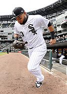 CHICAGO - APRIL 04:  Melky Cabrera #53 of the Chicago White Sox runs out onto the field prior to the game against the Detroit Tigers on April 04, 2017 at Guaranteed Rate Field in Chicago, Illinois.  The Tigers defeated the White Sox 6-3.  (Photo by Ron Vesely)   Subject:  Melky Cabrera