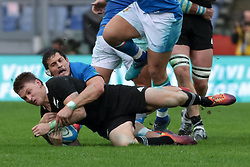 November 24, 2018 - Rome, Rome, Italy - Alessandro Zanni and Beauden Barrett during the Test Match 2018 between Italy and New Zealand at Stadio Olimpico on November 24, 2018 in Rome, Italy. (Credit Image: © Emmanuele Ciancaglini/NurPhoto via ZUMA Press)