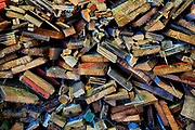 Colorful wood scaps.