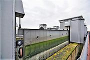 Nederland, Afsluitdijk Kornwerderzand, 22-2-2018Het sluizencomplex aan de Friese kant van de Afsluitdijk. Hier wordt ook de zoetwaterpassage voor vissen uit de waddenzee gemaakt.Foto: Flip Franssen